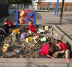 Children playing in a sandbox